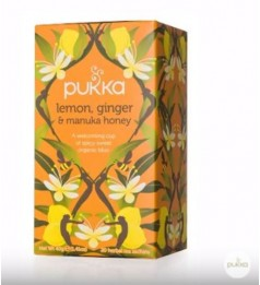 Pukka Organic Lemon, Ginger & Manuka Honey Tea 20 Tea bags 40g